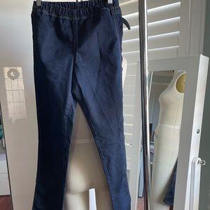 H&M Dark Blue Skinny Jeggings size 12